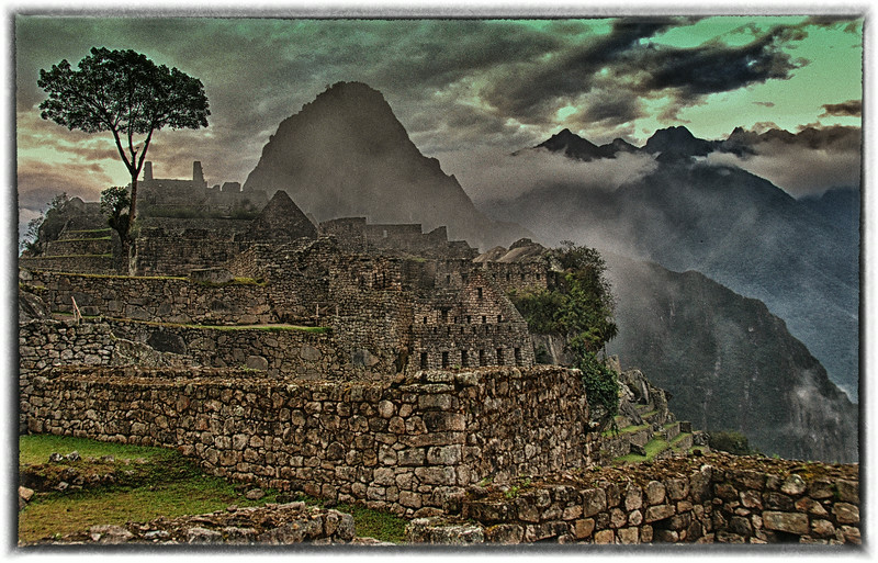 Dark day at Machu Picchu