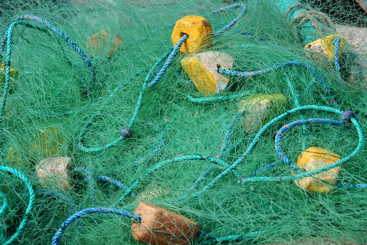 We loved the looks of the fishing nets.