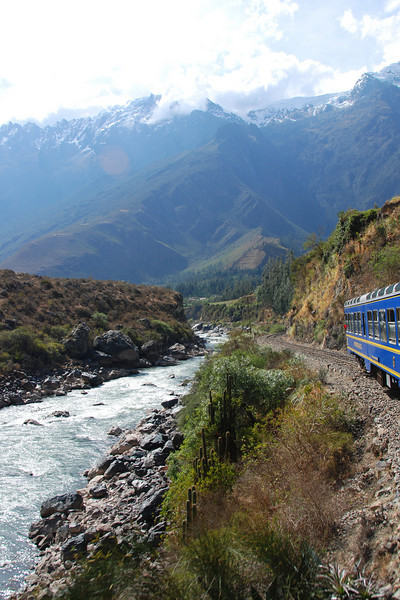 The train ride back from Machu Picchu in clear weather revealed some beautiful scenery.