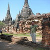 The highlight of the day's activities was a visit the ruins of the ancient capital of Ayutthaya.