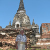 The giant stupas were built to hold the ashes of the many kings that ruled Siam from this magnificent city.