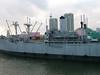 Old World War II Victory ship