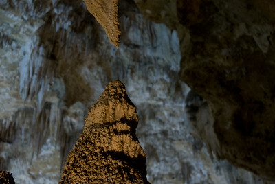Carlsbad Caverns, New Mexico - Stalagmite meets Stalagtite