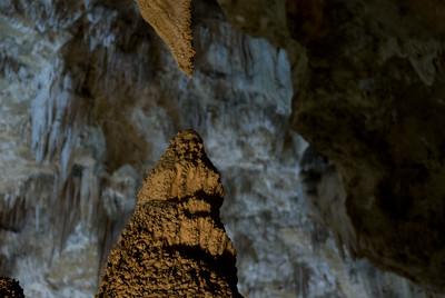Carlsbad Caverns, New Mexico - Stalagmite meets Stalagtite