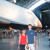 Pam and Matt get up close to the Space Shuttle