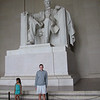 Matt poses beneath the Great Emancipator.