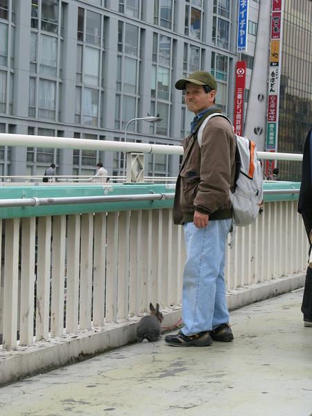 006 - dude walking his rabbit