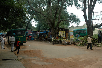 Vendors outside Bannerghatta zoo in Bangalore.