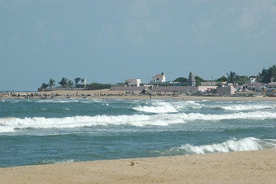 A view across the cove at Fisherman's Cove, outside Chennai.