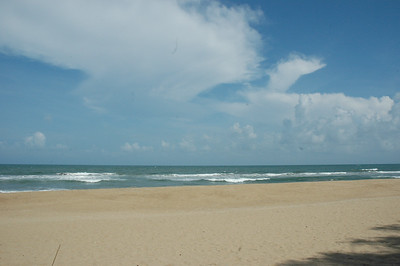 The Bay of Bengal, Fisherman's Cove, outside Chennai.