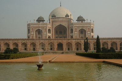 Humayun's tomb: the tomb built for Humayun, the emperor, by his wife.   [Delhi]