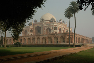 Humayun's tomb built 1562-1570 of sandstone and marble. [Delhi]