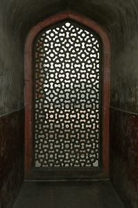 Humayan's tomb: these carved stone screens were in every window. [Delhi]