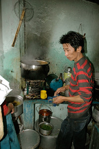 Dharamsala: momo chef in his kitchen.