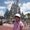 Olivia was excited to see the castle, but not excited to have her picture taken.