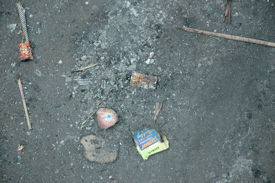 Diwali 'crackers', the morning after.