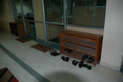 IIT Kharagpur: Students leave their shoes outside the computer labs.