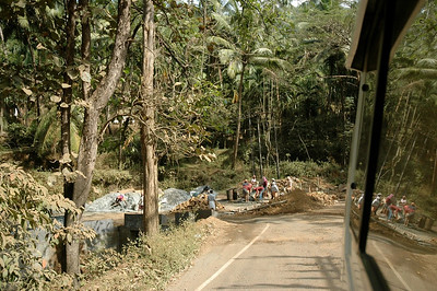 In Kerala, the road into the Western Ghats is often under construction.