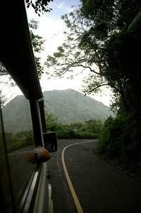 In Kerala, the road into the Western Ghats is narrow and windy.