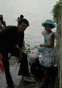 """At Dakshineswar Kali Temple, this man asked me if he could """"snap"""" a photo of me with his daughter...."""
