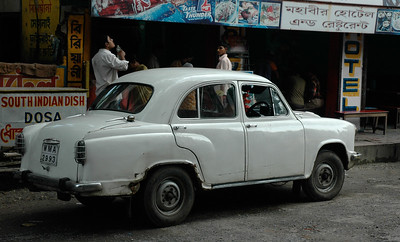 The beater car that took me around Kolkata. I've seen better.
