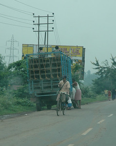 NH6 carries lots of truck traffic.