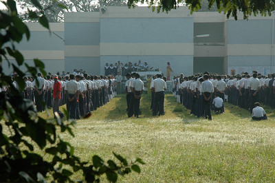 School assembly for a school on the campus of IIT Kanpur.