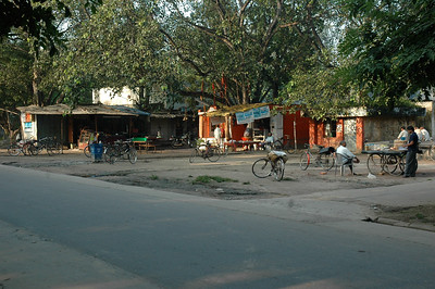 little shops on campus at IIT Kanpur.