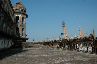 View from the top of Bara Imambara; Lucknow.