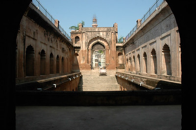 From here, guards could shoot intruders to the water tank; Bara Imambara, Lucknow.