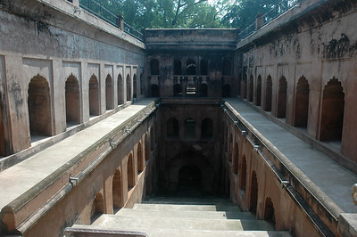 This large step-well structure once held a huge supply of water for Bara Imambara; Lucknow.