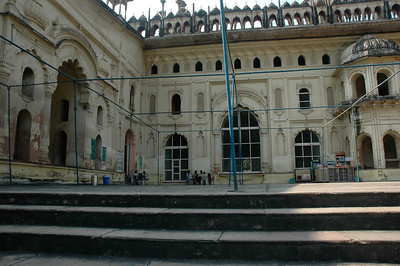More guides wait for business at Bara Imambara; Lucknow.