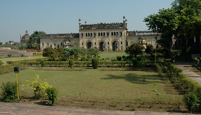 Looking back at the second gate of Bara Imambara; Lucknow.