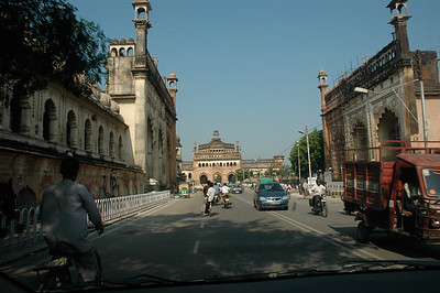 Entry to Bara Imambara on the left; Lucknow.