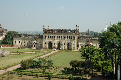 A look back at the second gate in Bara Imambara; Lucknow.
