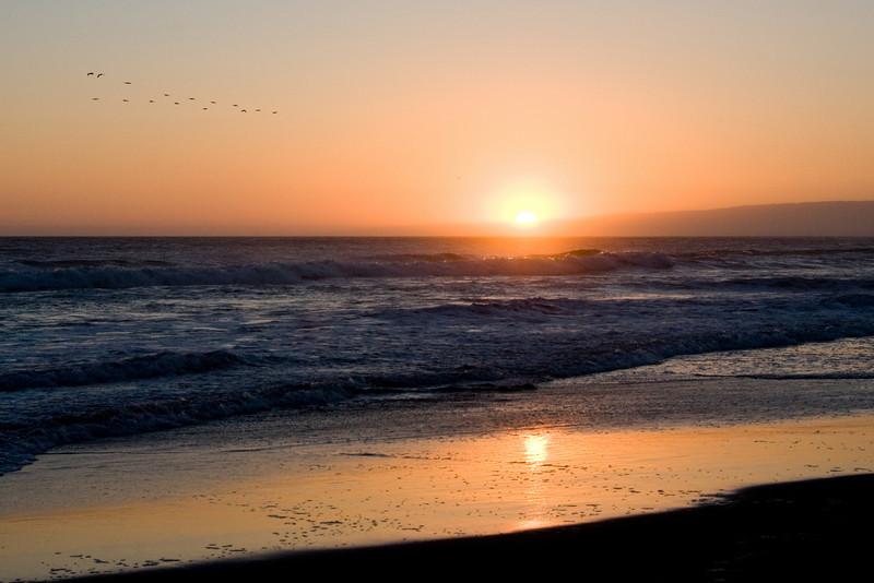Sunset at Pajaro Dunes Beach