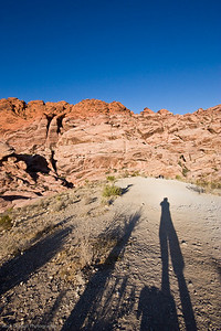 My shadow, Redrock Canyon, Nevada U.S.