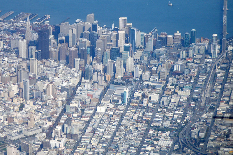 Downtown SF as seen from the air