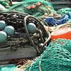 Mess of fishing gear at the main fishing docks.