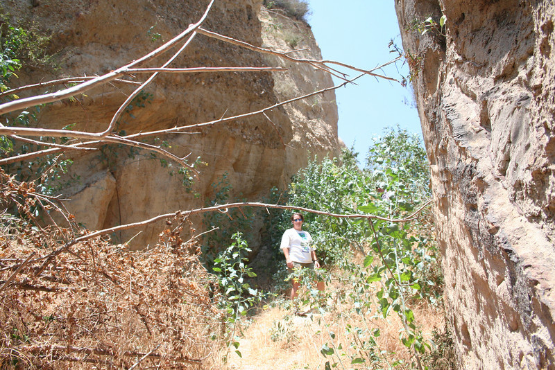 On a hike with Craig seeing the historic sites of San Fernando Valley