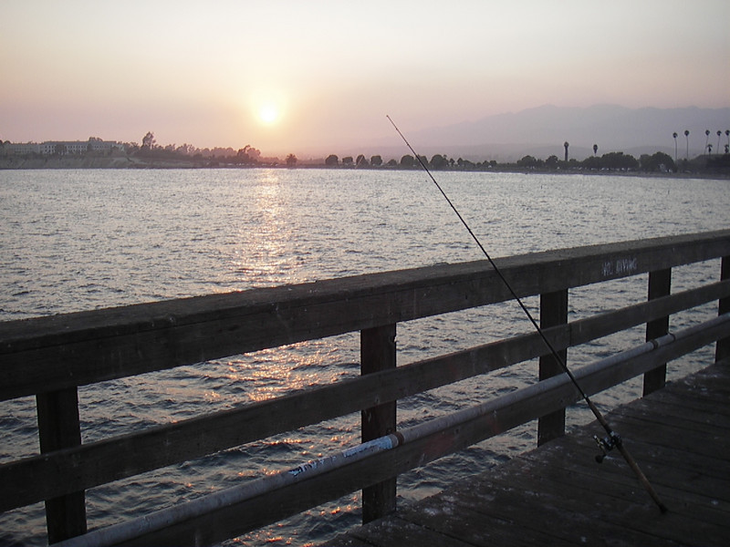 Brian watched nice sunsets and went fishing while Jeni went to a training.