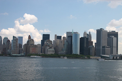 Manhattan Skyline as viewed from the Staten Island Ferry