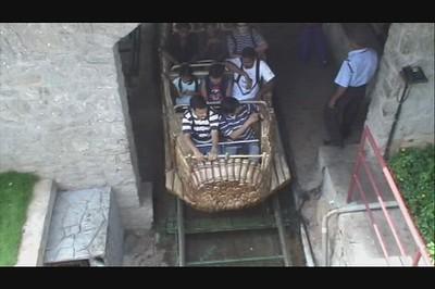"John, Andy, Mara splash through the most exciting ride at ""Wonder La"" amusement park - outside Bangalore."