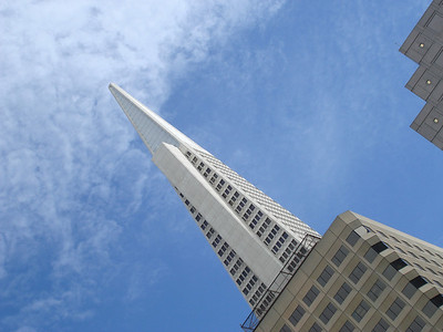 The Trans-America Pyramid - the tallest building  San Francisco