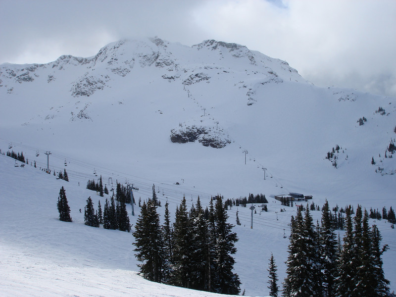 View of Whistler Peak from the Roundhouse.