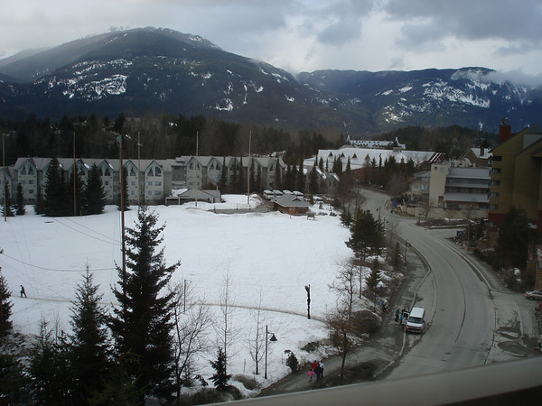 "The view from our hotel room at the ""Westin Reort and Spa"" Whistler."