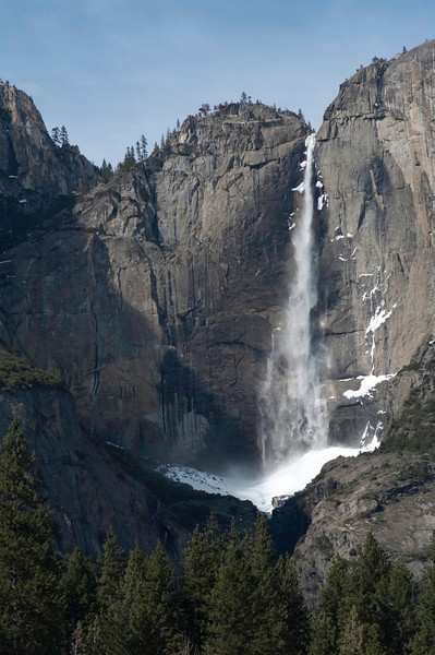 Upper Yosemite Falls from the valley