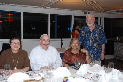 Passover - Joyce, Joel & Adrian, Nelson, helped organize the Passover Seder. It was very nice. The ship's chef learned how to do it from the internet.