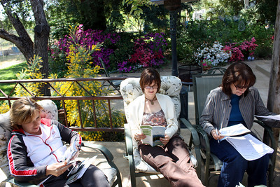 Nancy, Karlene & Sue 4-25-09 pre cruise meeting