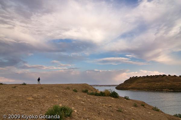 Lake Al-Assad, Euphrates river near Qaalat Najm